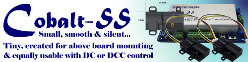 DCC Concepts DCDCP-CBSS-6 Cobalt SS Surface Mount Point Motor (6 Pack)